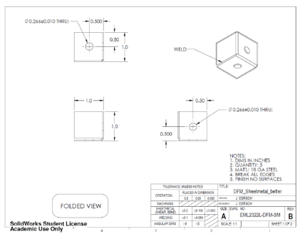 Solved Shown Below Are Drawings For A Sheet Metal Part