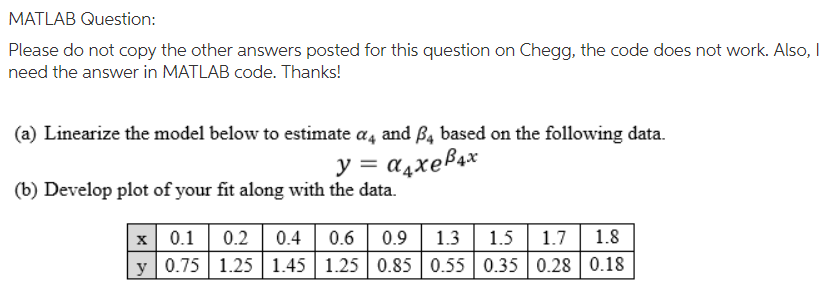 solved matlab question please do not copy the other answ