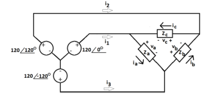 Solved: Consider The Wye To Delta 3 Phase Circuit Shown Be