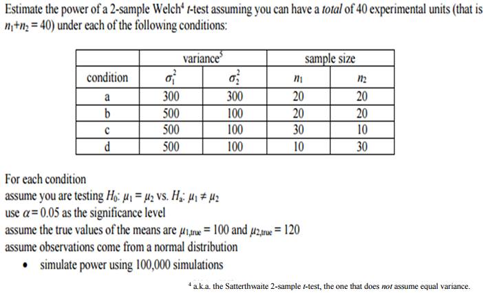 Welch's two-sample t-test intro to data science youtube.