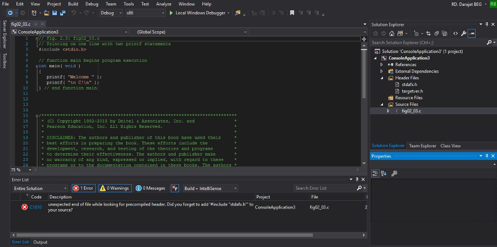 Solved: Hi  I Am Using IDE Of Visual Studio 2017 Community