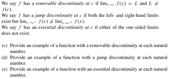 Solved: Real Analysis - Discontinuity (Answers Should Be C