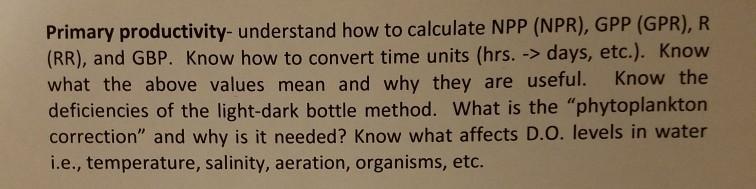 light bottle dark bottle method