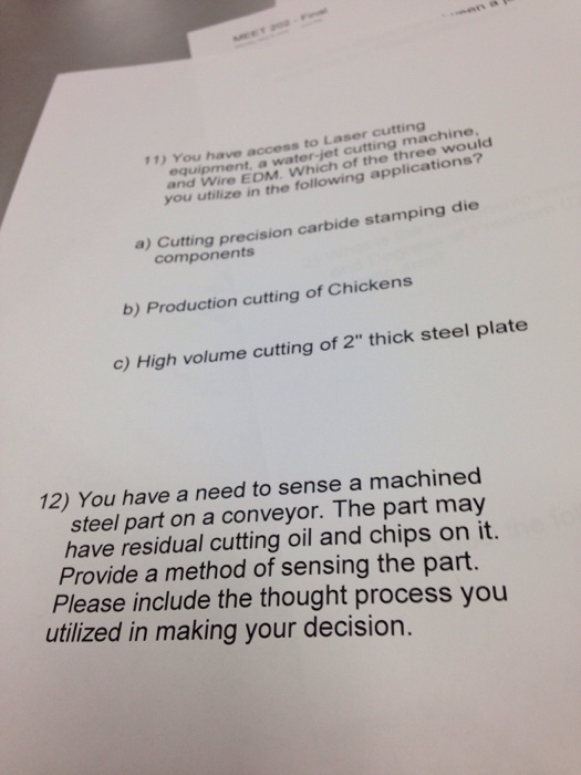 Solved: You Have Access To Laser Cutting Equipment, A Wate
