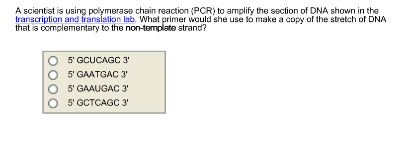 Solved: A Scientist Is Using Polymerase Chain Reaction (PC ...