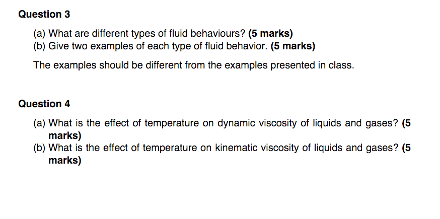 Fluid Examples