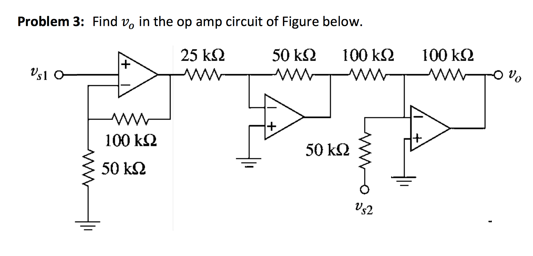 Problem 3: Find vo in the op amp circuit of Figure