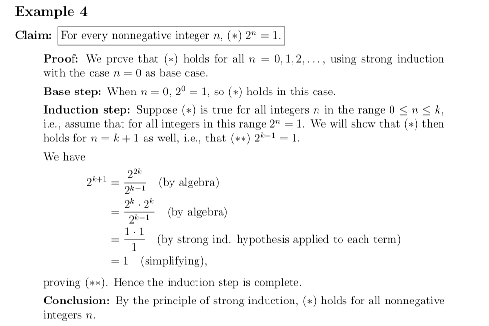 Solved: Example 4 Claim: For Every Nonnegative Integer N ...