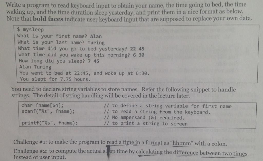 Solved: C Programming Practice Problem  No NESTING LOOP OR