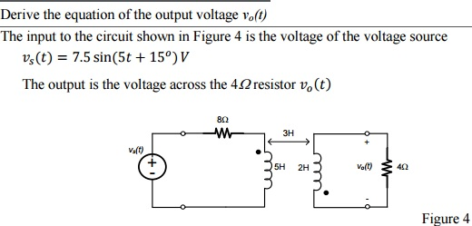 Derive the equation of the output voltage v_0(t)