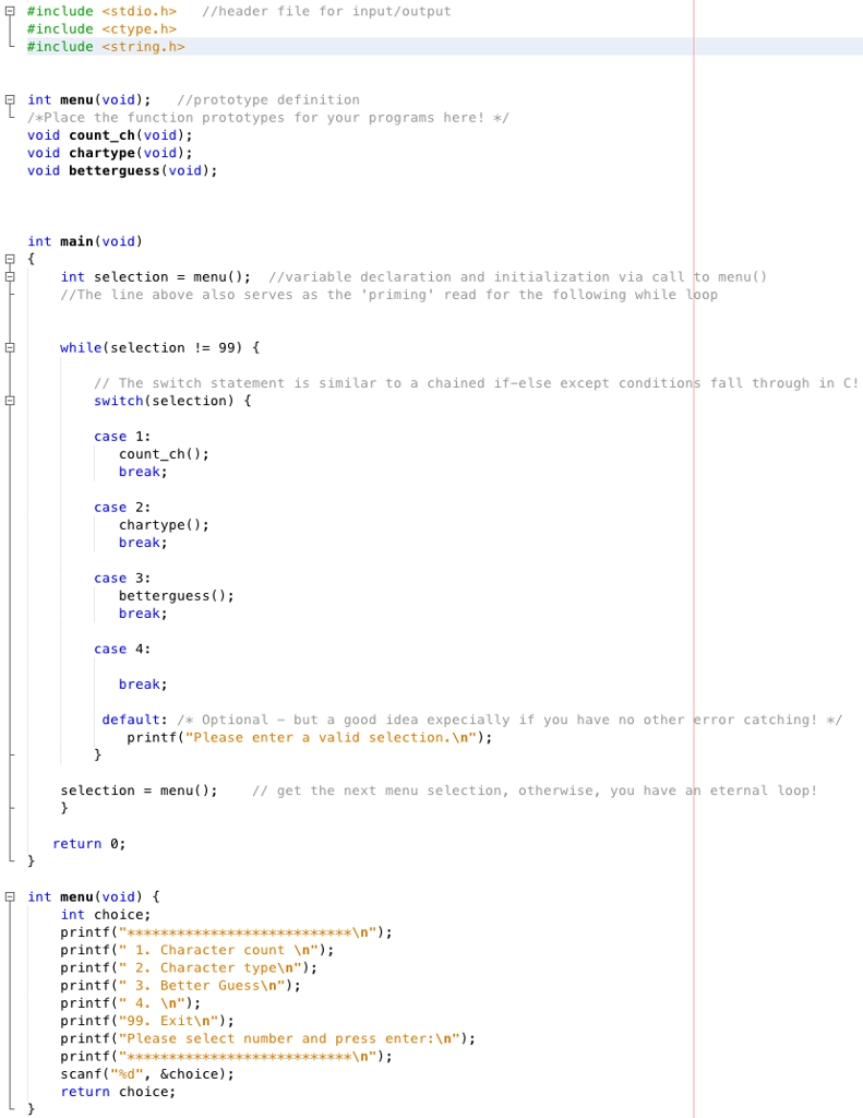 Solved: C Language Problem: