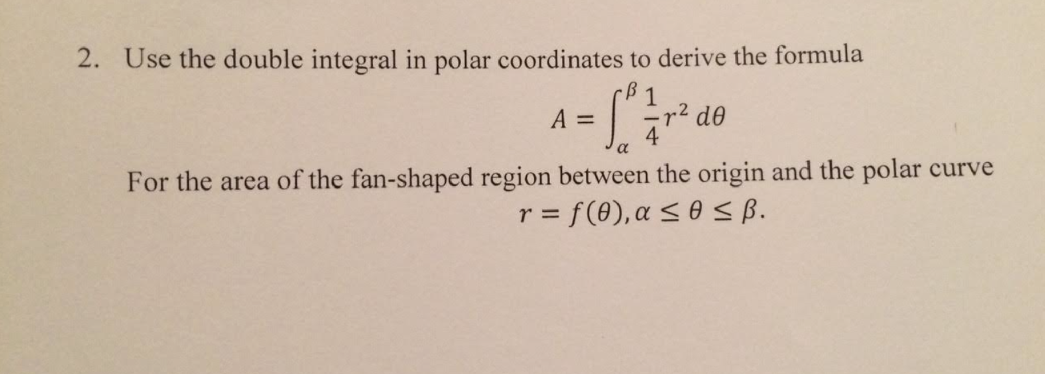 Use The Double Integral In Polar Coordinates To De Area Between Two Curves  Problem #34 Polar Coordinates How To Find