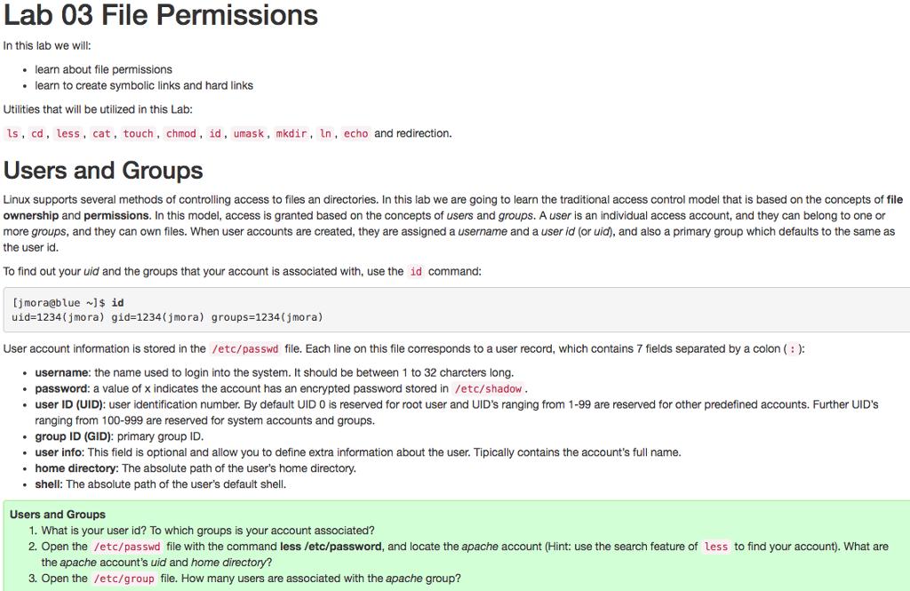 Solved Unix File Permission Help Please Answer The Quest