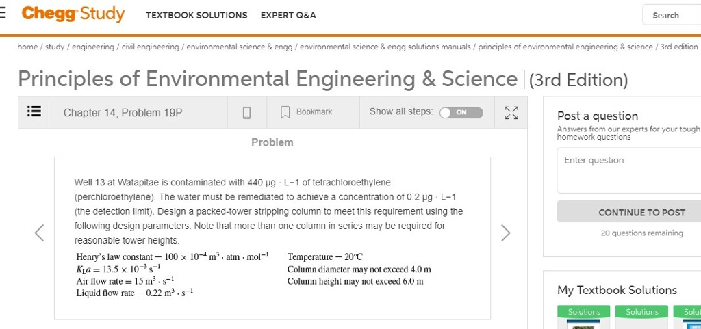 Solved: Chegg Study TEXTBOOK SOLUTIONS EXPERT O&A Search H