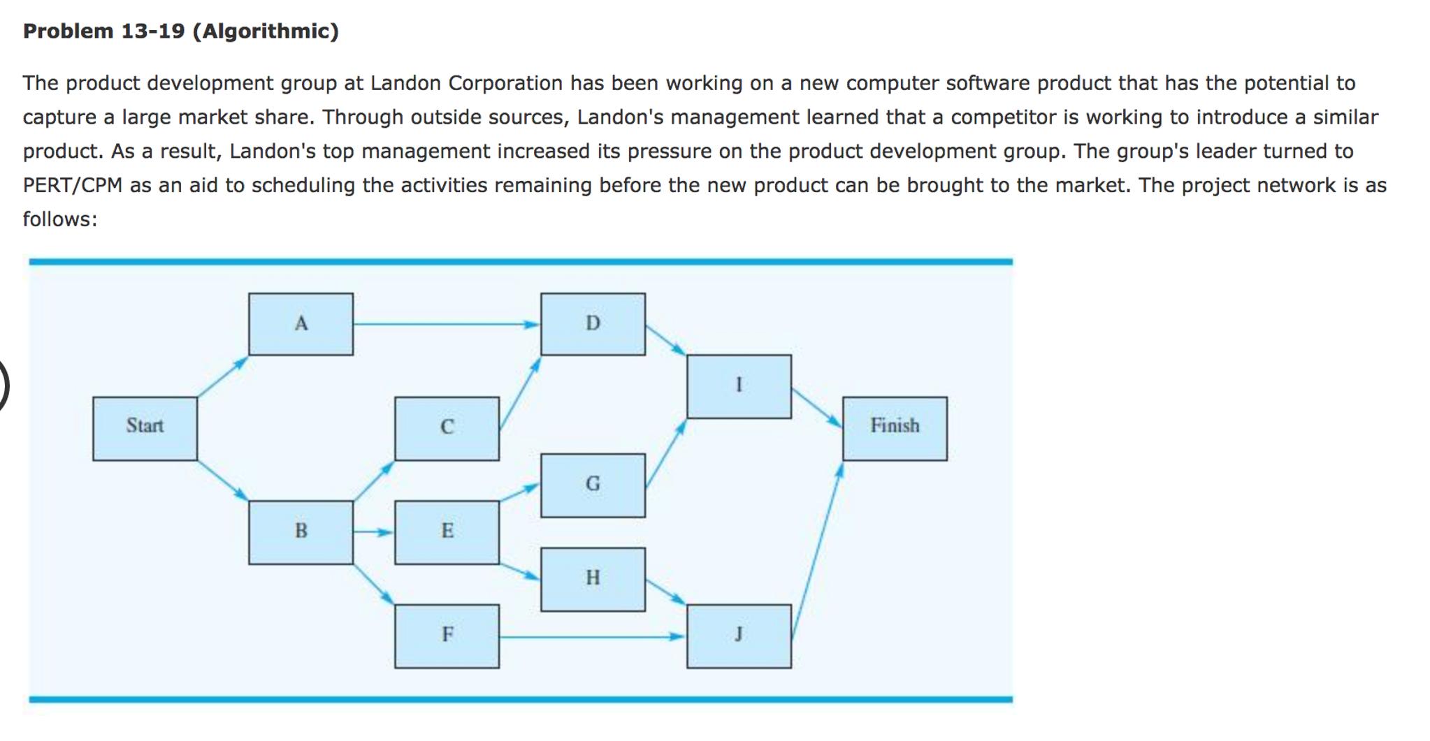 Operations management archive november 21 2016 chegg problem 13 19 algorithmic the product developmen fandeluxe Images
