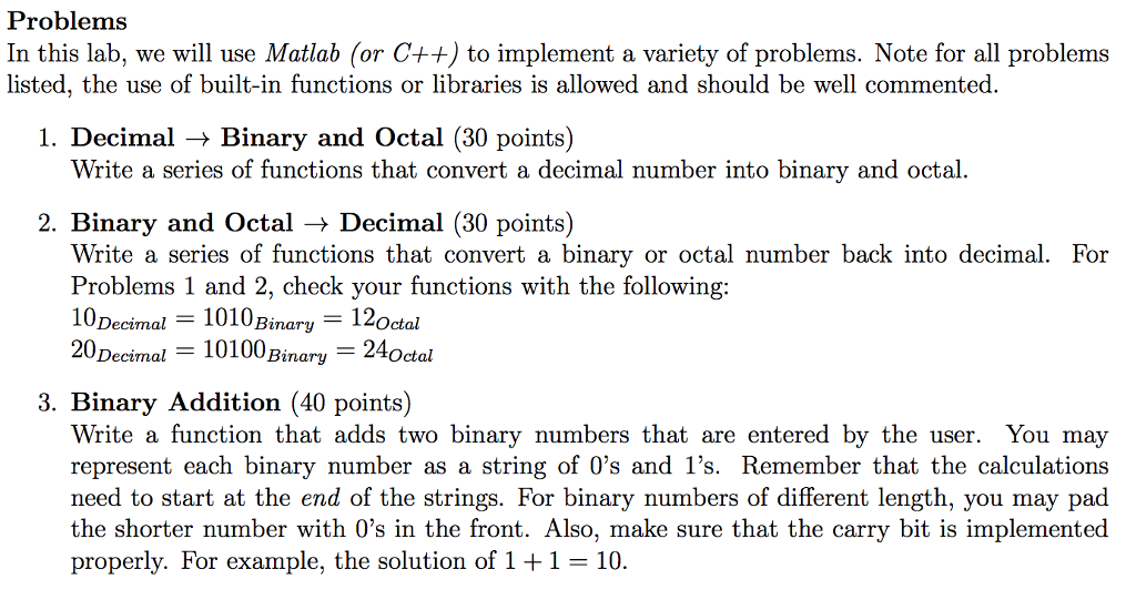 Solved: 1 ) Decimal → Binary And Octal : Write A Series Of