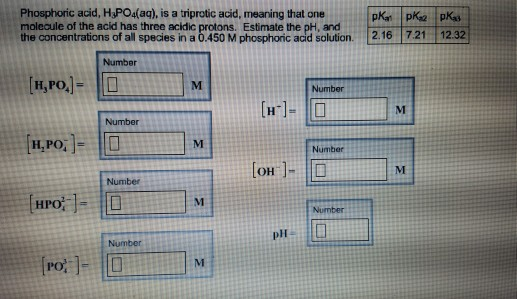 Solved Phosphoric Acid Hspoaq Is A Triprotic Acid Me