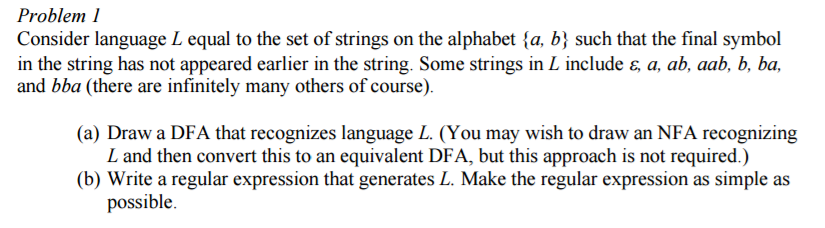 Solved Consider Language L Equal To The Set Of Strings On