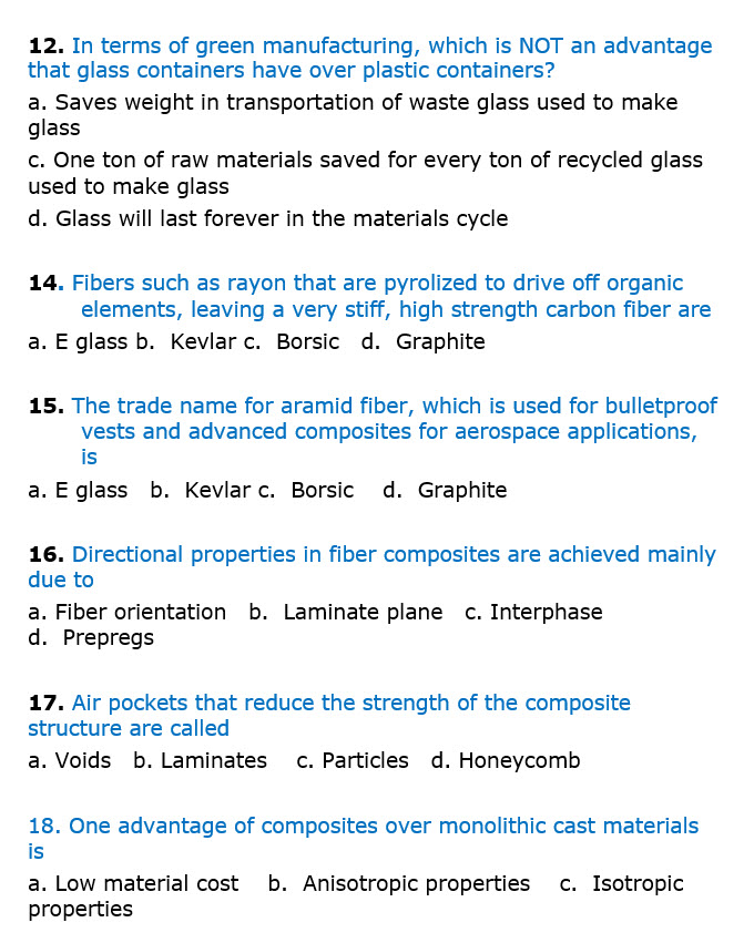 Solved: 12  In Terms Of Green Manufacturing, Which Is NOT