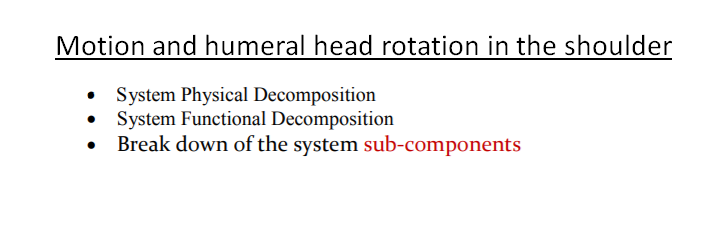 Solved: Motion And Humeral Head Rotation In The Shoulder ...