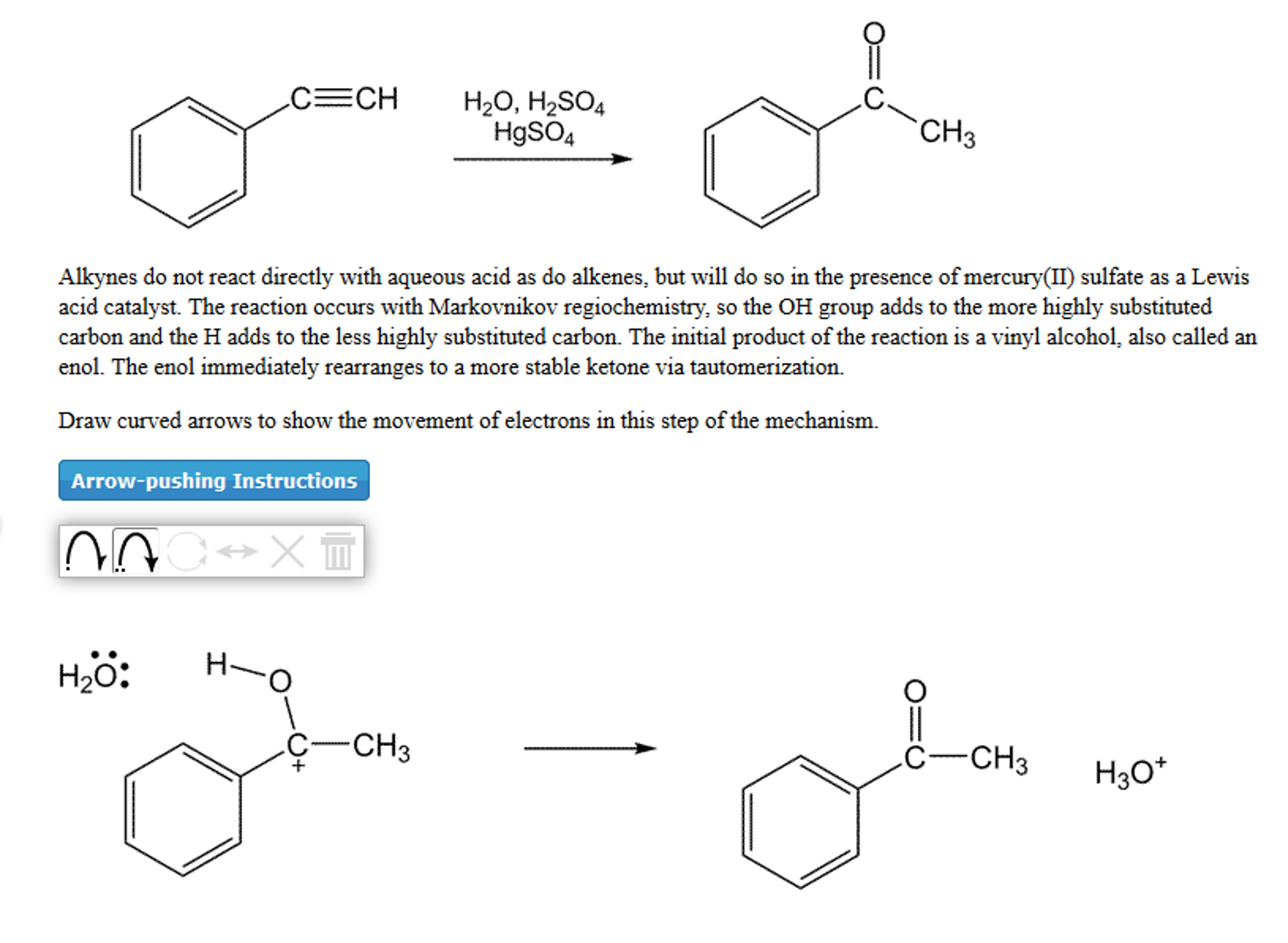 Solved: HgSO4 CH3 Alkynes Do Not React Directly With Aqueo