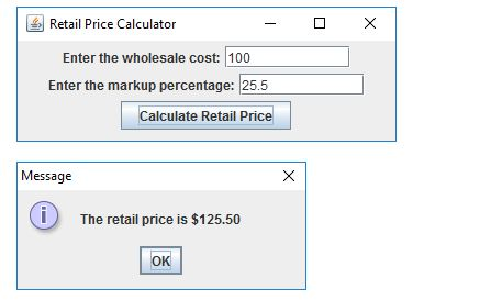 solved java please using gui 1 retail price calculator