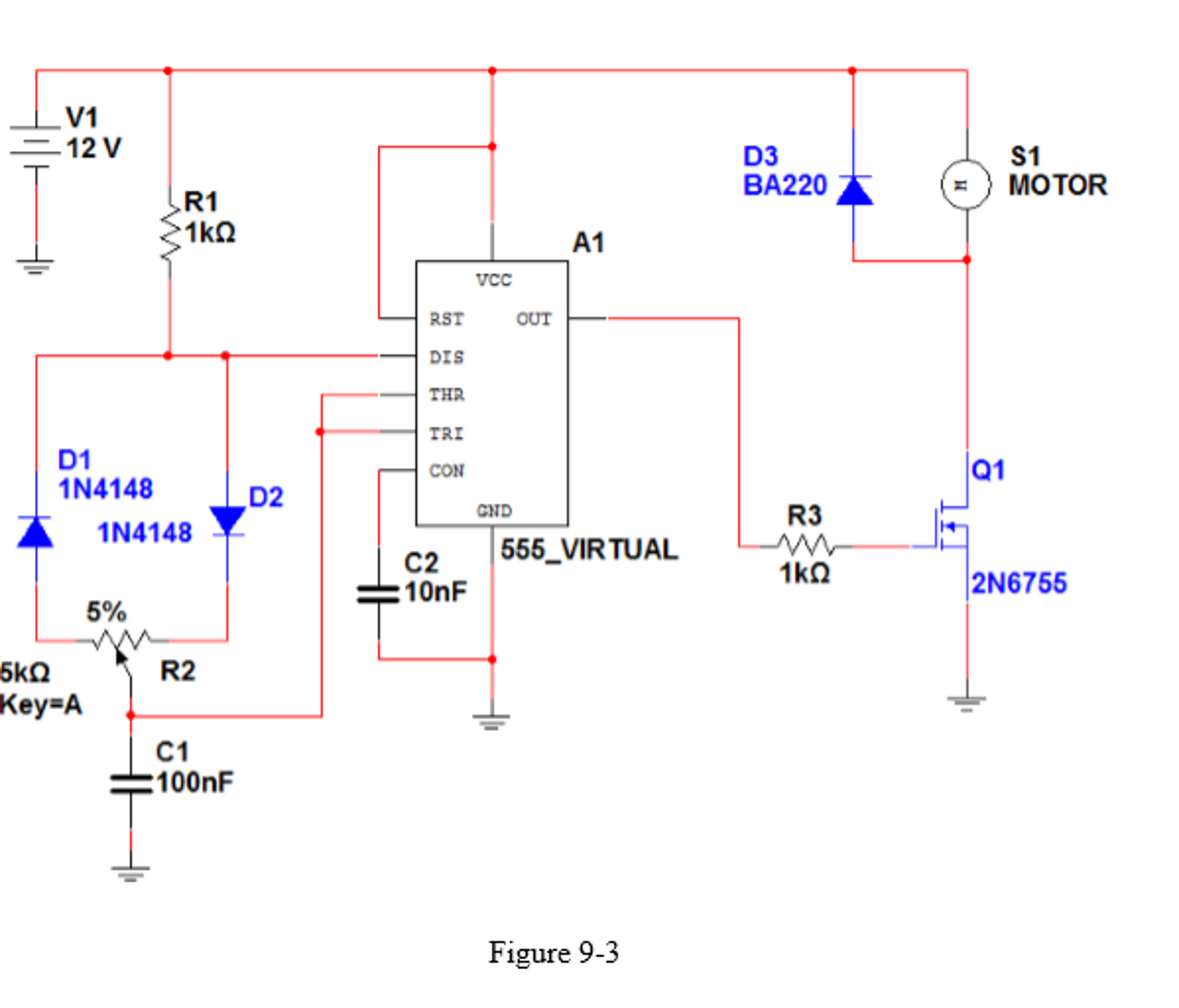 Lab 5 555 Clock Timer And Dc Motor Speed Control Ic As Astable Multivibrator Experiment Questions