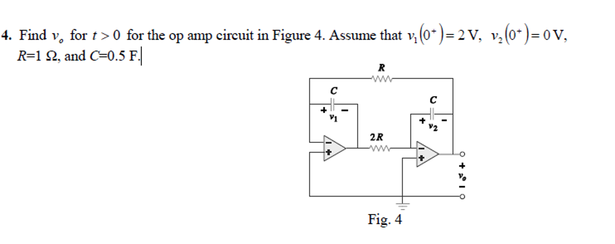 T Amp Circuit Diagram Solved Find V 0 For The Op In Figur
