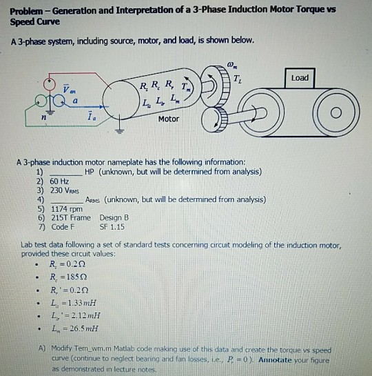 Problem generation and interpretation of a 3 phase chegg problem generation and interpretation of a 3 phase induction motor torque vs speed curve swarovskicordoba Images
