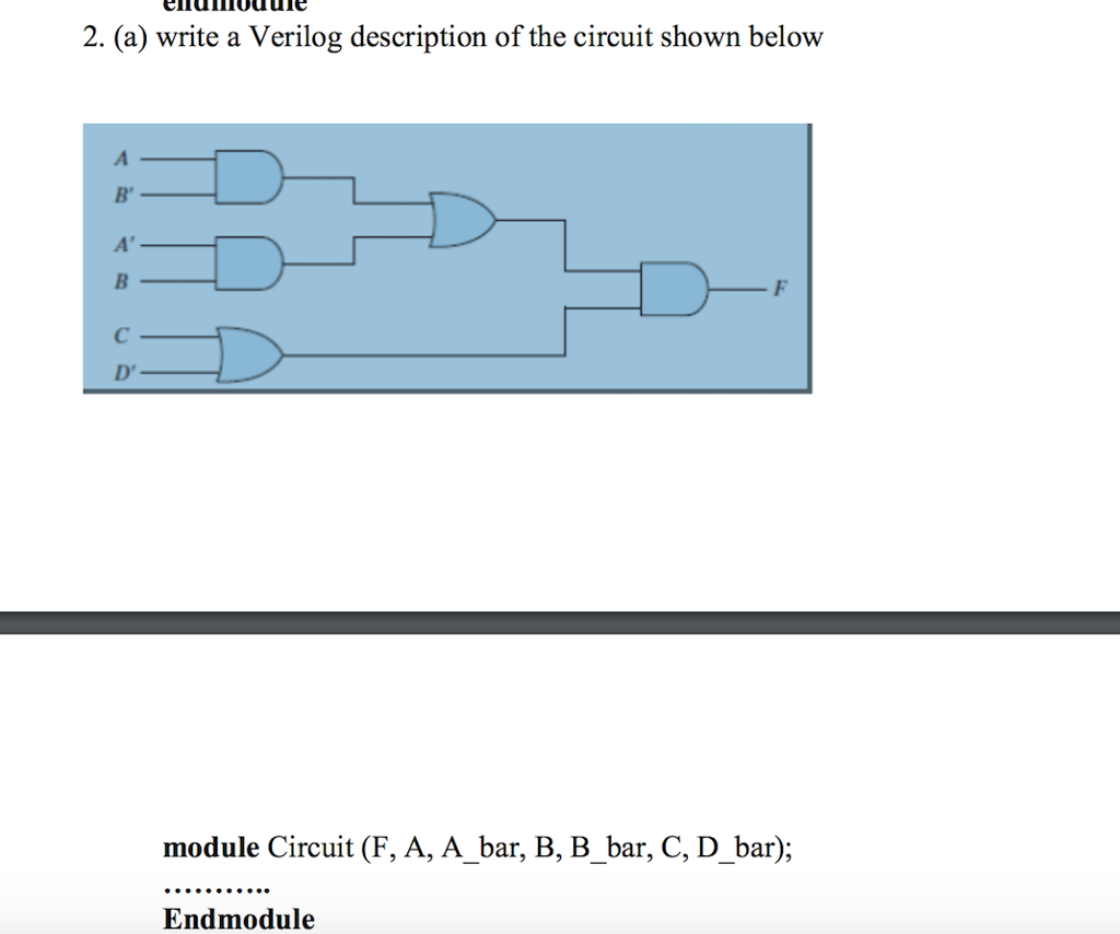 Solved: Draw The Logic Diagram Of The Digit Circuit Specif ...