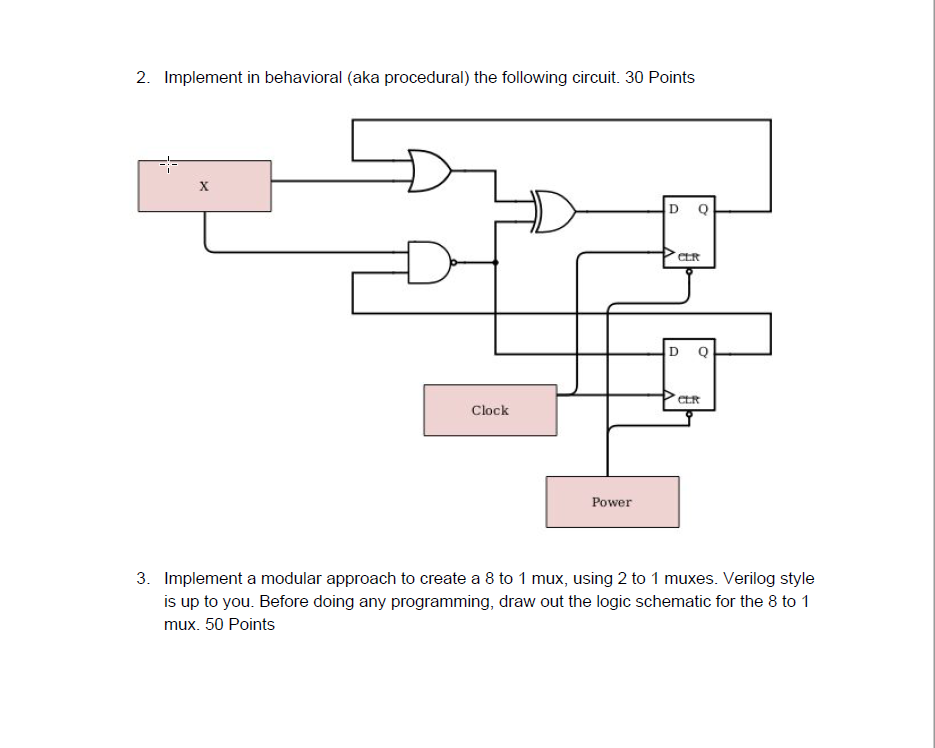 Solved 1 Implement In Structural Verilog The Following C Chegg Com