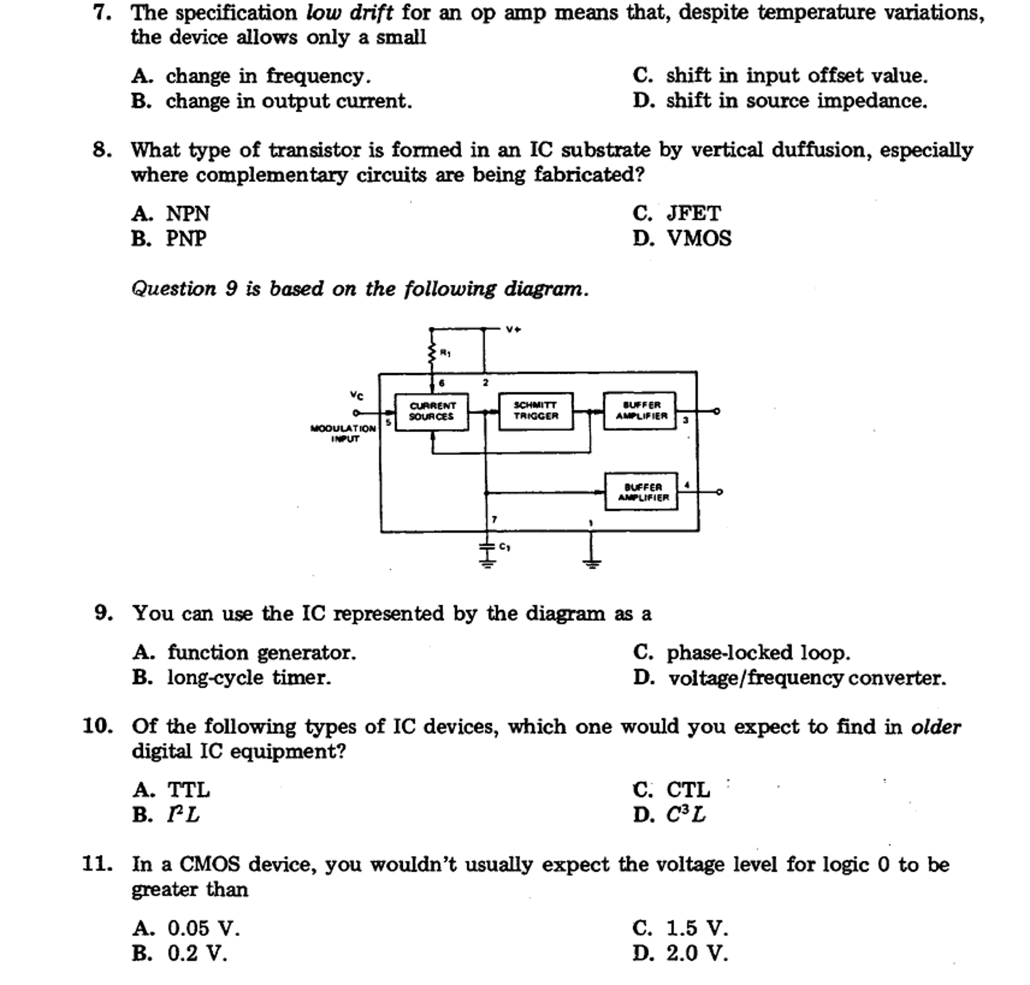 Solved: The Specification Low Drift For An Op Amp Means Th