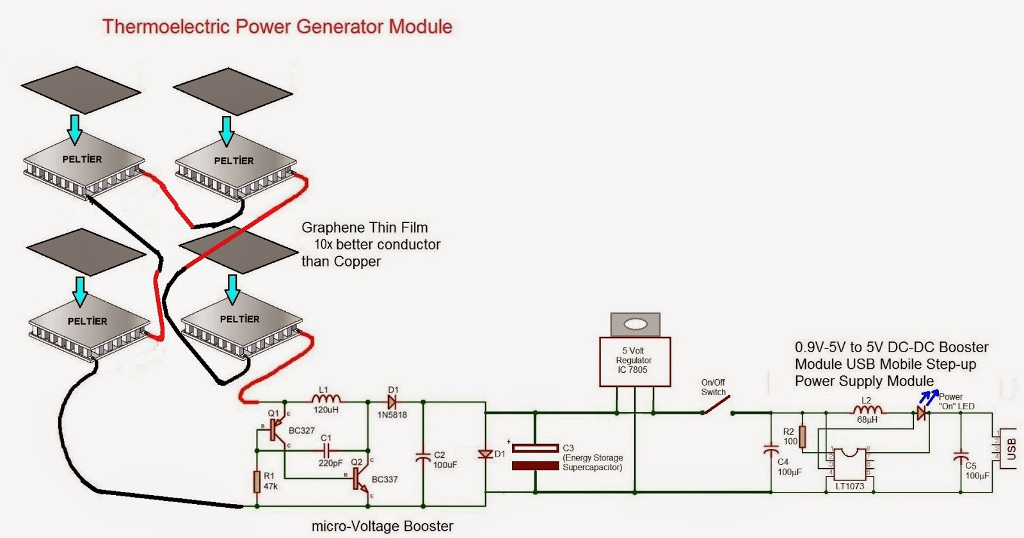 Solved circuit design showing 6 peltier generators connec thermoelectric power generator module peltier peltier graphene thin filnm 10x better conductor than copper peltier peltier circuit cheapraybanclubmaster Images