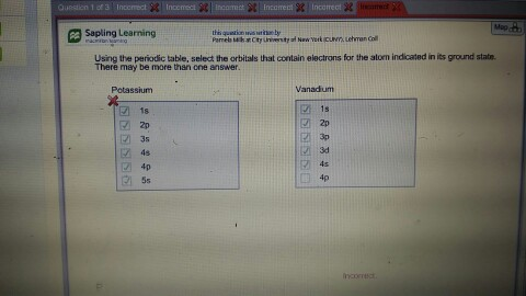 Solved Question 1 Of Map Sapling Learning Using The Perio
