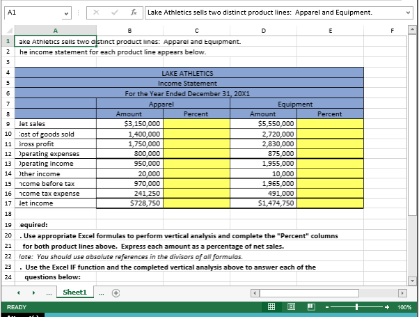 product profitability analysis excel