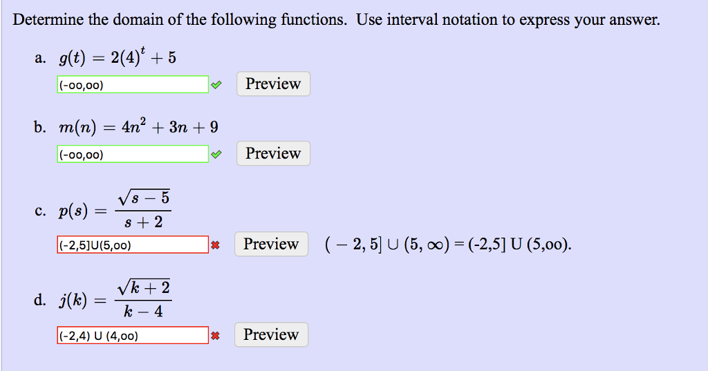solved using the interval notation what is the right ans