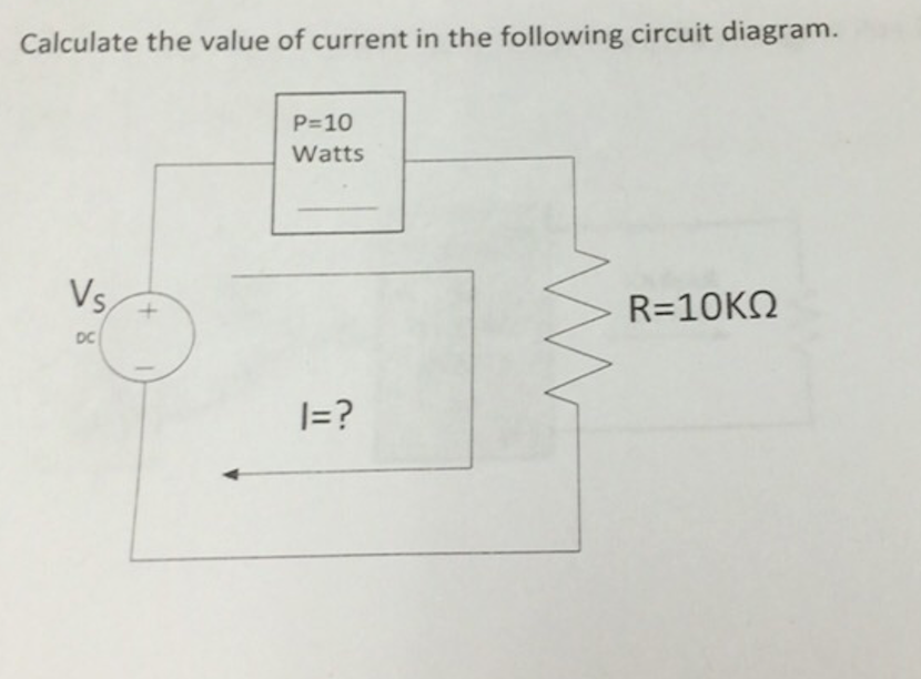 Solved calculate the value of current in the following ci image for calculate the value of current in the following circuit diagram ccuart Images