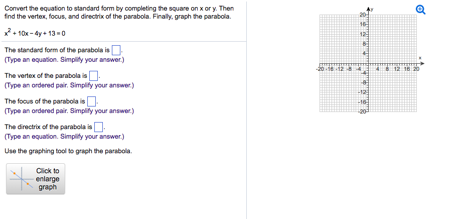 Solved Convert The Equation To Standard Form By Completin