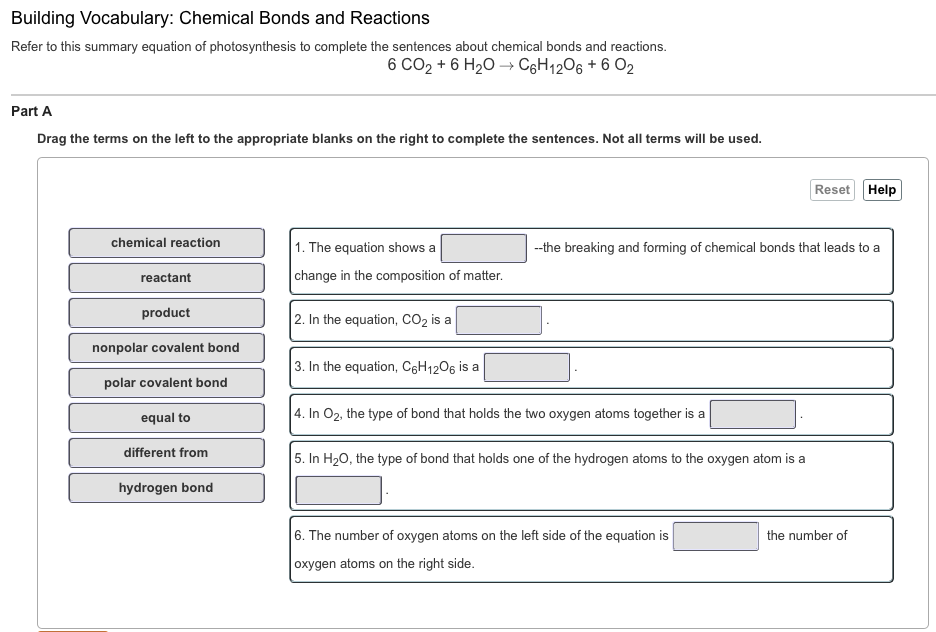 Solved: Refer To This Summary Equation Of Photosynthesis T ...