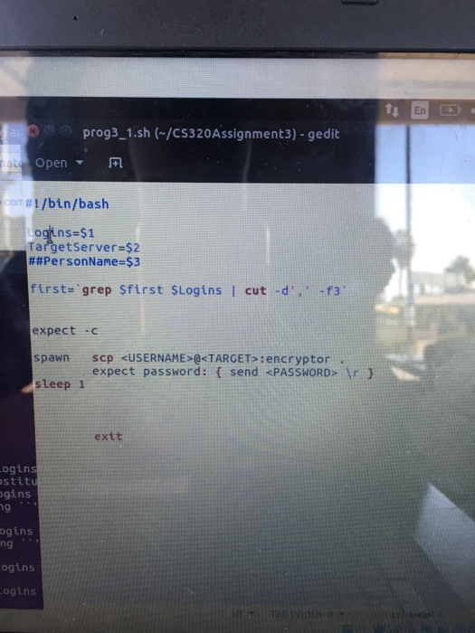 Solved: Bash Programming Question: My First Argument Login