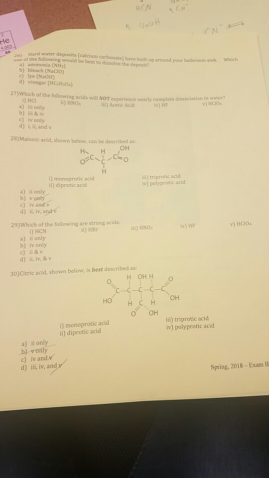 Solved: He Hard Water Deposits (calcium Carbonate) Have Bu ...