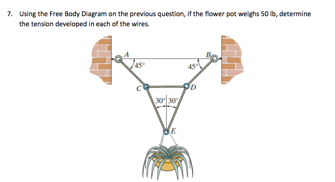Solved 7 using the free body diagram on the previous que using the free body diagram on the previous question if the ccuart Images