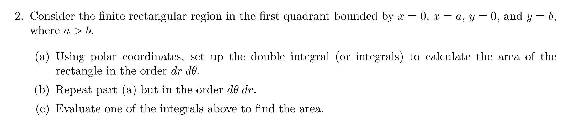 Consider The Finite Rectangular Region In The Firs Double Integrals Surface  Area