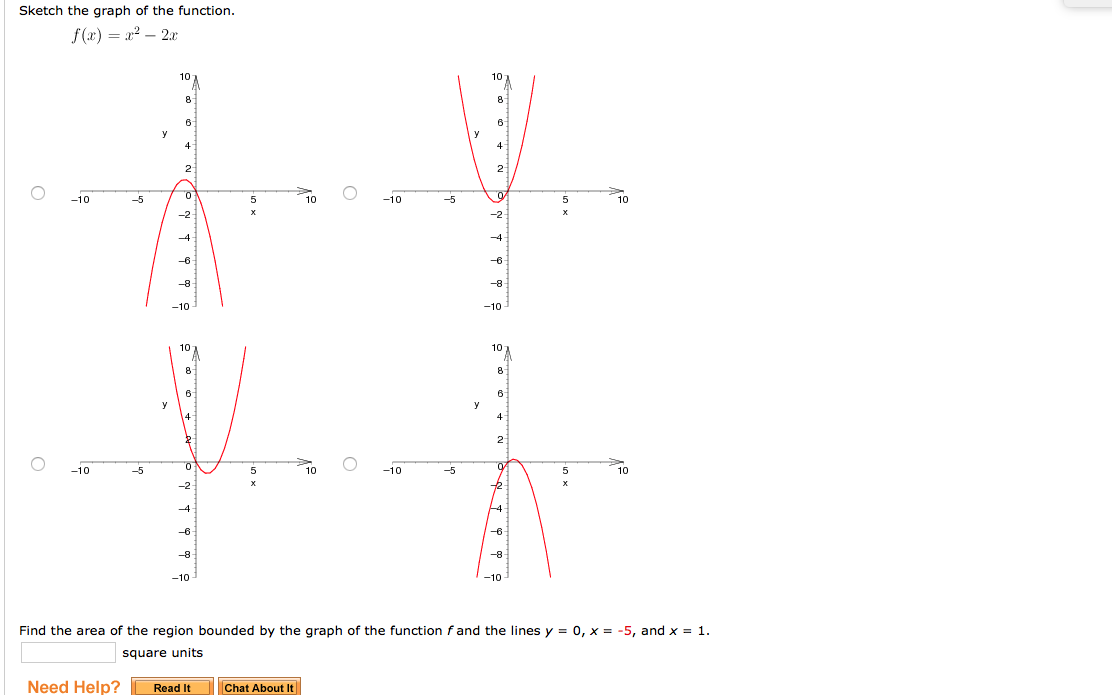 solved: sketch the graph of the function. f(x) = x^2 -2x f