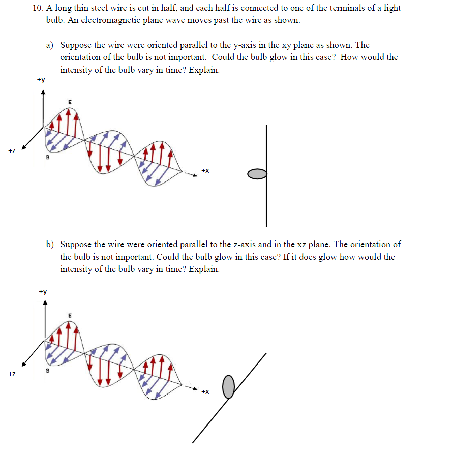 Solved: 10. A Long Thin Steel Wire Is Cut In Half And Each ...