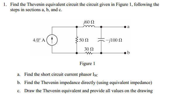 solved 1 find the thevenin equivalent circuit the circui rh chegg com