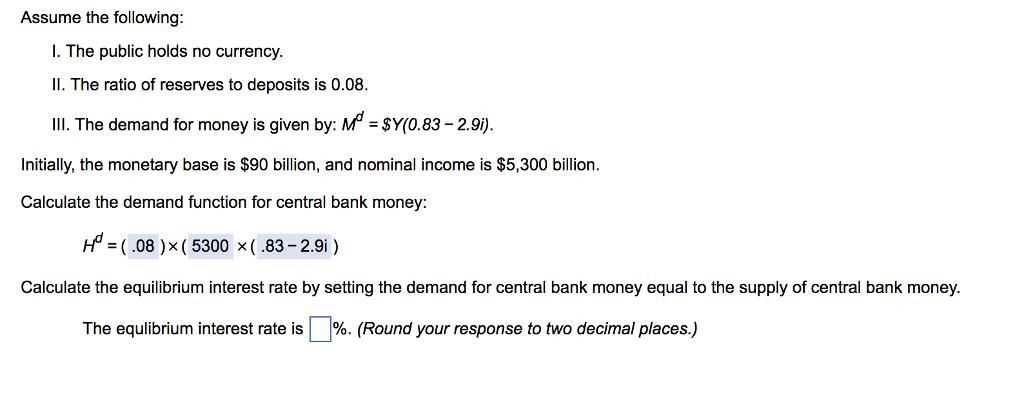 Equilibrium interest rate.