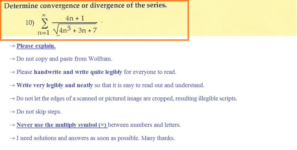 Solved Determine Convergence Or Divergence Of The Series