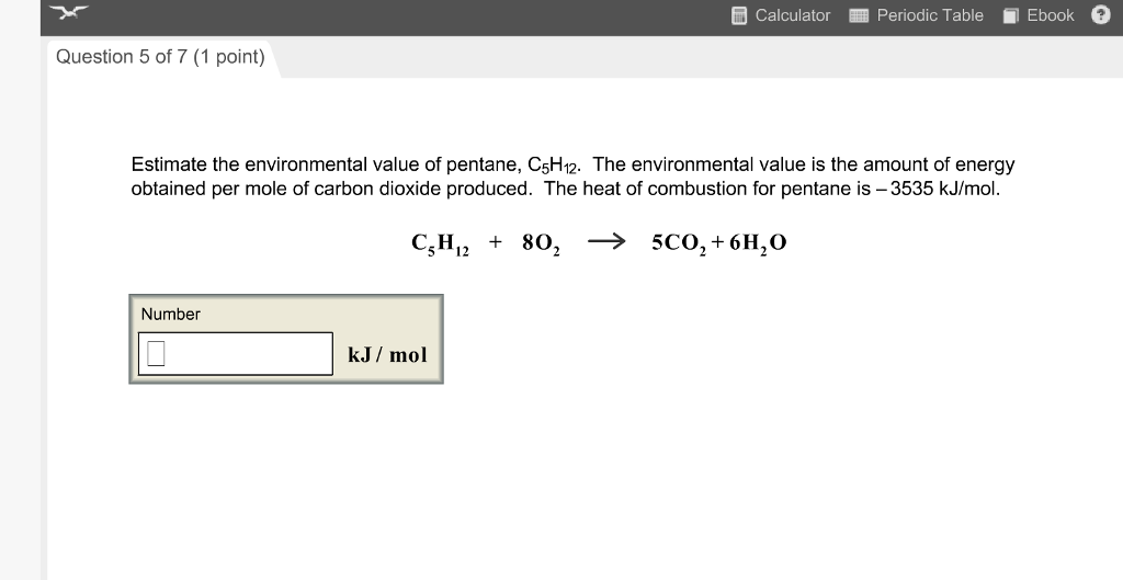 Chemistry archive march 29 2017 chegg 0 answers calculator periodic table ebook question 5 of 7 1 point estimate the environmental value fandeluxe Image collections