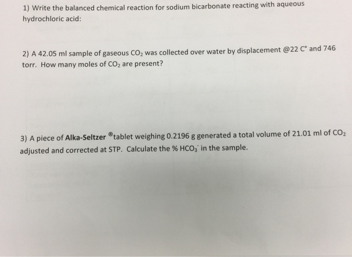 Solved: Write The Balanced Chemical Reaction For Sodium Bi